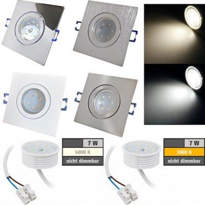 Diese flachen LED Einbaustrahler dürfen in...