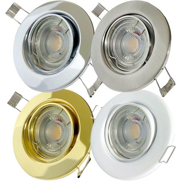 Einbaustrahler Tomas / LED Leuchtmittel 230Volt / 3Watt / 45° Schwenkbar