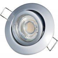 LED Einbaustrahler Timo / 230V / 3W / 250Lumen / Schwenkbar / Rostfrei / EEK A+