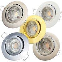 LED Einbaustrahler Timo / 230V / 7W / 550Lumen / Schwenkbar / Rostfrei / EEK A+