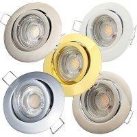 LED Einbaustrahler Timo / 230V / 7W / 450Lumen /...