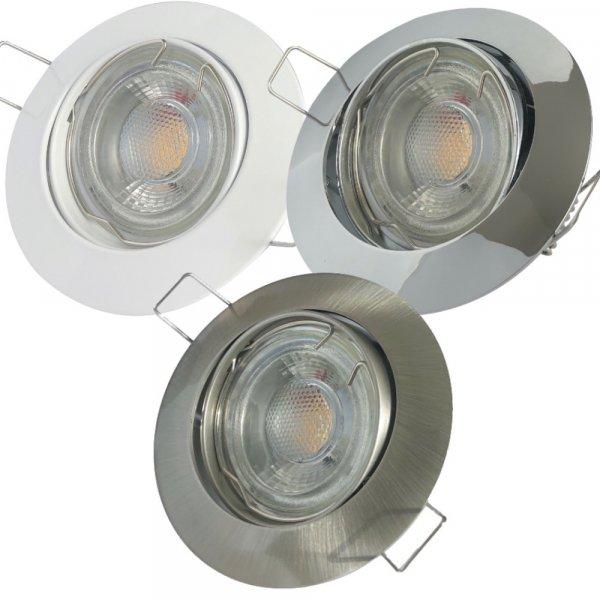 LED Einbaustrahler Jan / 230V / 7W / 450Lumen / Schwenkbar / Dimmbar