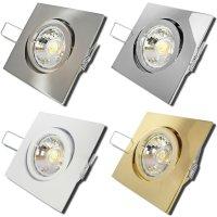 Einbaustrahler Dario / LED Leuchtmittel 230V / 5Watt / 400Lumen / Quadratisch