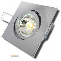 Einbaustrahler Dario / LED Leuchtmittel 230V / 7Watt / 500Lumen / Quadratisch