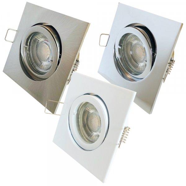 Einbaustrahler Dario / LED Leuchtmittel 230V / 7Watt / 450Lumen / Dimmbar