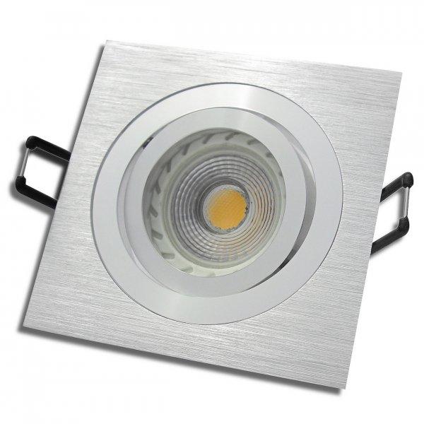 Einbaustrahler Linus / LED Leuchtmittel 230V / 3Watt / 250Lumen / Aluminium / Silber