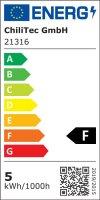 Einbaustrahler Linus / LED Leuchtmittel 230V / 5Watt / 400Lumen / Aluminium / Schwarz