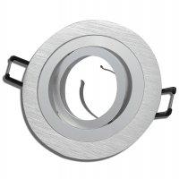 Einbaustrahler Leonie / LED Leuchtmittel 230V / 5Watt / 400Lumen / Aluminium / Silber