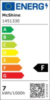 Einbaustrahler Leonie / LED Leuchtmittel 230V / 7Watt / 500Lumen / Aluminium / Schwarz
