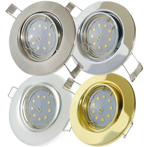 SMD LED Einbaustrahler Tomas / 230V / 3W=30W / Schwenkbar / Rostfrei