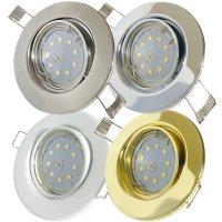 SMD LED Einbaustrahler Tomas / 230V / 3W=30W / Schwenkbar...
