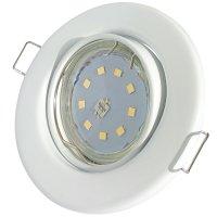SMD LED Einbaustrahler Tomas / 230V / 3W=30W / Schwenkbar / Rostfrei / EEK A+