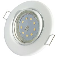 SMD LED Einbaustrahler Tomas / 230V / 5W=50W / Schwenkbar / Rostfrei