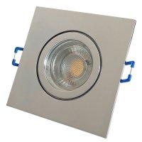 3W LED Bad Einbaustrahler Marin 230 Volt / 90 x 90 mm / IP44 / Quadratisch / 250 Lumen