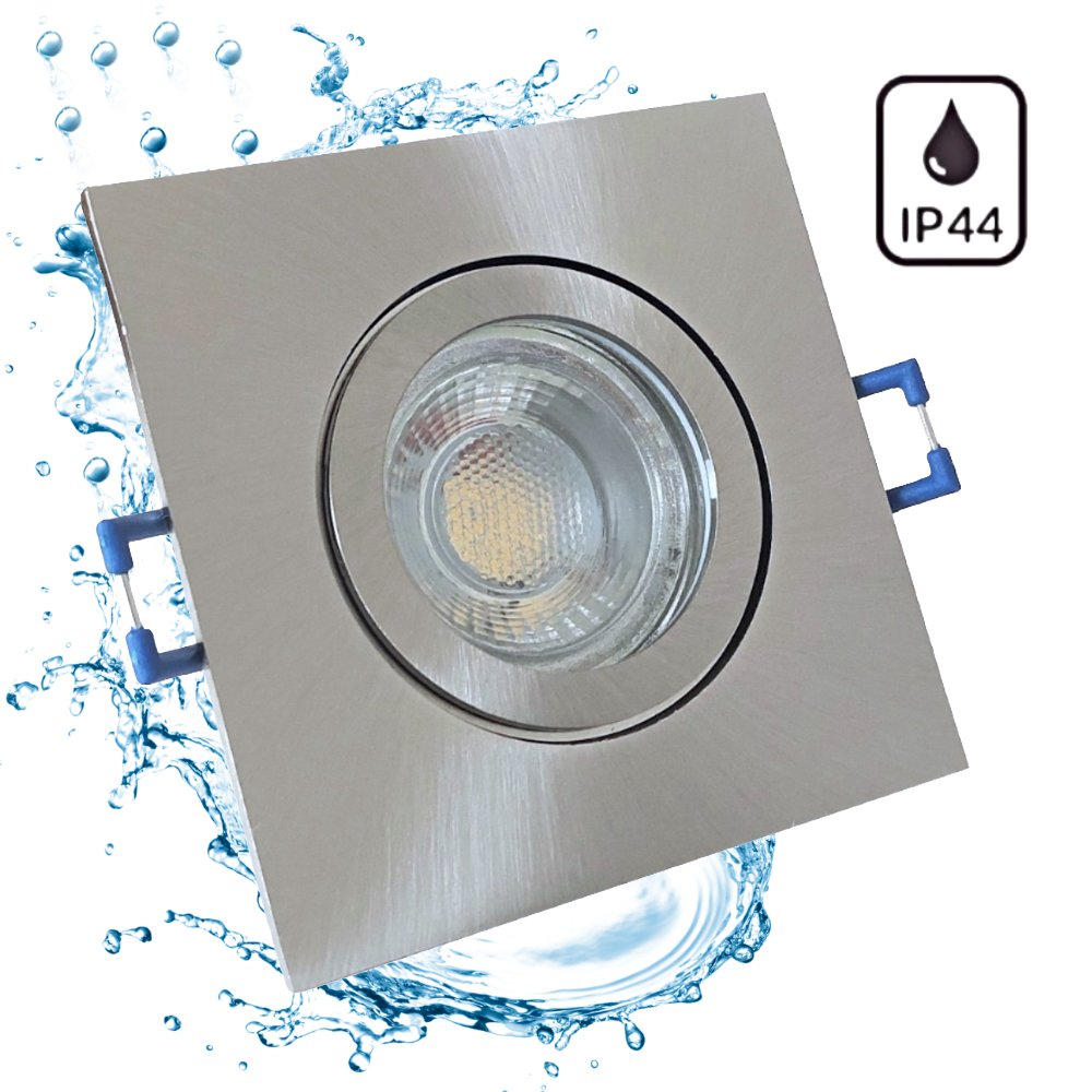 5w led bad einbaustrahler marin 230 volt 90 x 90 mm ip44 quadra 17 00. Black Bedroom Furniture Sets. Home Design Ideas