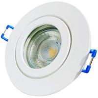 5W LED Bad Einbauleuchte Marina 230 Volt / IP44 / Clipring / 400 Lumen