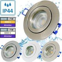 7W LED Bad Einbauleuchte Marina 230 Volt / Dimmbar / IP44...