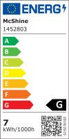 7W LED Bad Einbaustrahler Marin 230 Volt / Dimmbar / IP44 / 450 Lumen