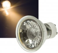 MCOB LED Einbaustrahler Tom / 230V / 3Watt / Eckig / Silber / Weiss