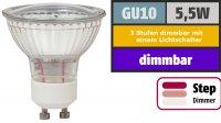 SMD LED Leuchtmittel 230Volt - 5Watt - Dimmbar in 3...