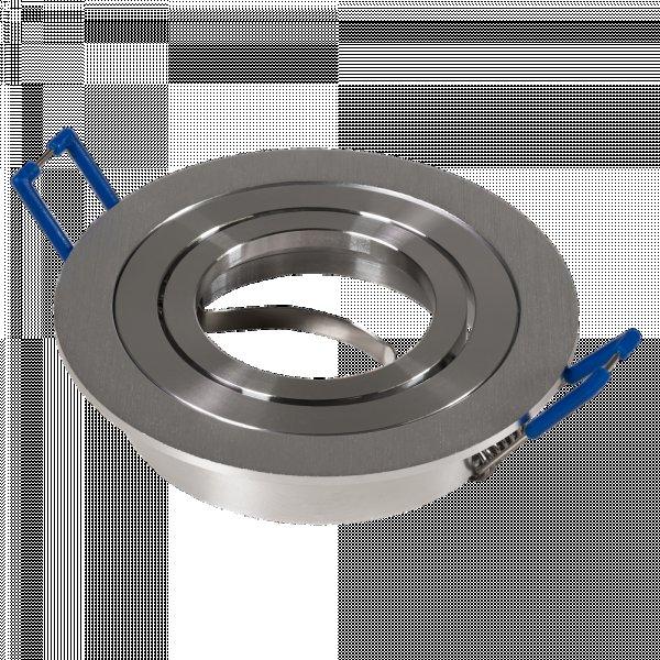 Aluminium Einbaustrahler Sandy / 230Volt / Silber / Gu10 Fassung / Ohne Leuchtmittel