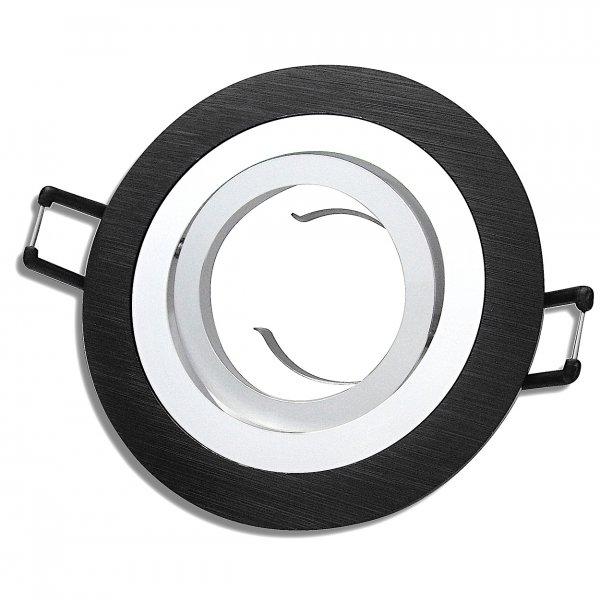 Aluminium Einbaustrahler Sandy / 230Volt / Schwarz / Gu10 Fassung / OHNELeuchtmittel
