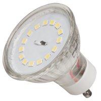 SMD LED Leuchtmittel 230Volt - 7Watt - WARMWEISS 3000Kelvin - 120° Abstrahlwinkel - Sockel Gu10