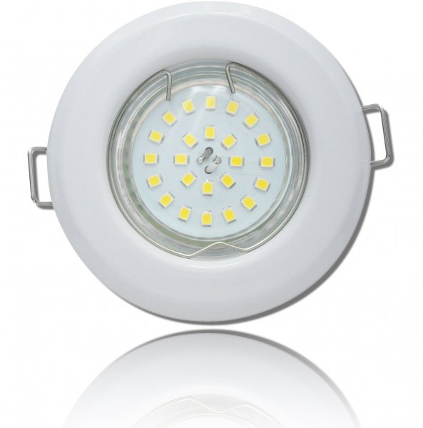 SMD LED Einbaustrahler Tom / 230V / 3W - 5W oder 7Watt / Weiss