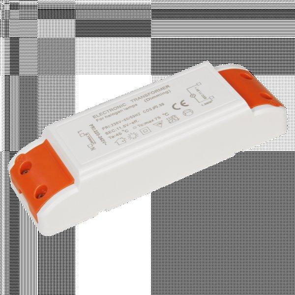 elektronischer Halogentrafo / 11,6V~ / 105W / 140 x 45 x 29mm / 10 - 105W / Primär dimmbar