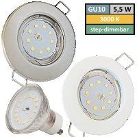 SMD LED Einbauspot Tom / 3 - Stufen Dimmbar per...