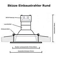 SMD LED Einbauspot Tom / 3 - Stufen Dimmbar per Lichtschalter / 230Volt / 5W