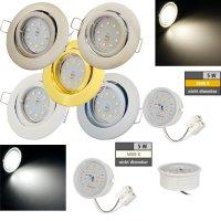 Flacher SMD LED Einbaustrahler Timo / 220Volt / 5Watt LED...