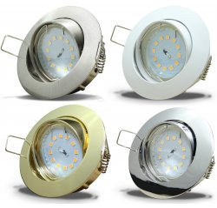 Flacher SMD LED Einbaustrahler Jan / 220Volt / 5Watt LED...