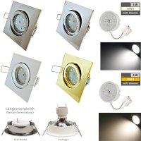 Flacher SMD LED Einbaustrahler Dario / 220Volt / 5Watt...