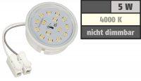 Flacher SMD LED Einbaustrahler Dario / 220Volt / 5Watt LED Lampenmodul / ET=32mm