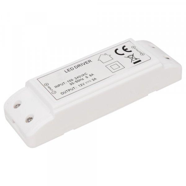 Elektronischer LED Trafo 1 -> 36Watt für LED Lampen oder Stripes - stabilisierte Spannung.