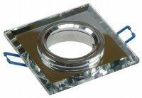 Eckiger Glas Einbaustrahler Laura | LED | 230V | 7Watt DIMMBAR | Klarglas