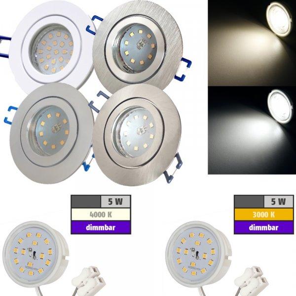 LED Einbaustrahler Marina / 230V / 5W / DIMMBAR / Loch=60 - 68mm / ET=32mm