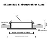 LED Einbaustrahler Marina / 230V / 5W / DIMMBAR / Loch=60...