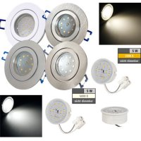 LED Einbaustrahler Marina / 230V / 5W / Loch = 57 - 65mm...