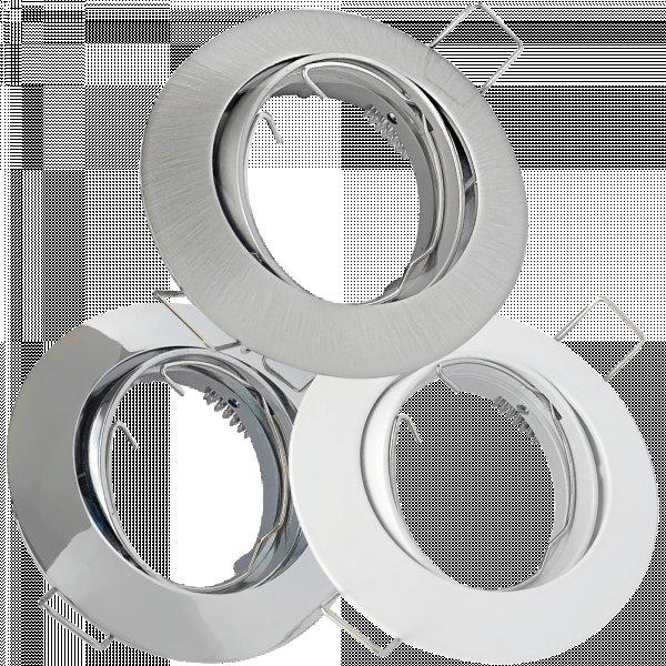 Decken Einbaufassung Jan 230Volt / OHNE Leuchtmittel / Rostfrei / Schwenkbar