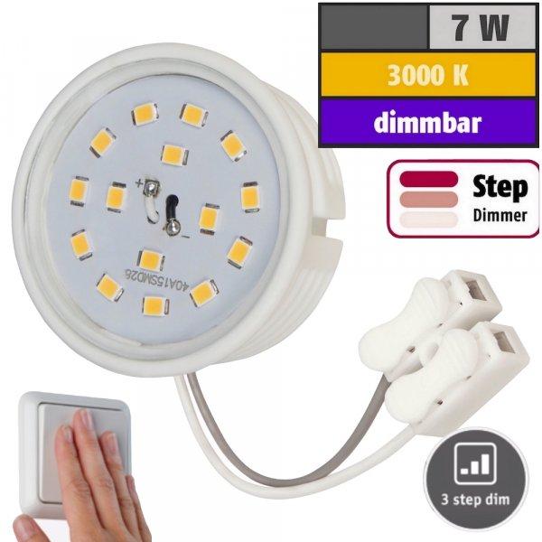 LED-Modul, 7Watt, 470Lumen, 230Volt, Step dimmbar, 50 x 23mm, Warmweiß, 3000Kelvin