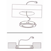 6 Stück LED Möbel Einbauleuchten 12V | 3W | Einbautiefe 12mm | Loch = 55 - 60 mm
