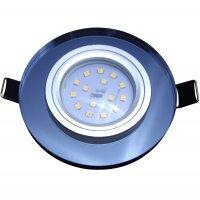 Runde Glas SMD LED Einbauleuchte Laura / 230V / 3W, 5W...