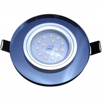 Runde Glas SMD LED Einbauleuchte Laura | 230V | STEP...