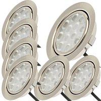 7 Stück LED Möbel Einbauleuchten 12V | 3W |...