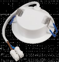 5W LED Einbauleuchte IP44 | 230V | 500Lumen | 85 x 30mm | Rund | Weiss