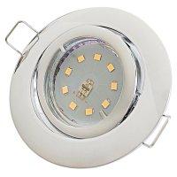 Flacher SMD LED Einbaustrahler Timo | 220Volt | 5Watt | STEP DIMMBAR | ET=32mm