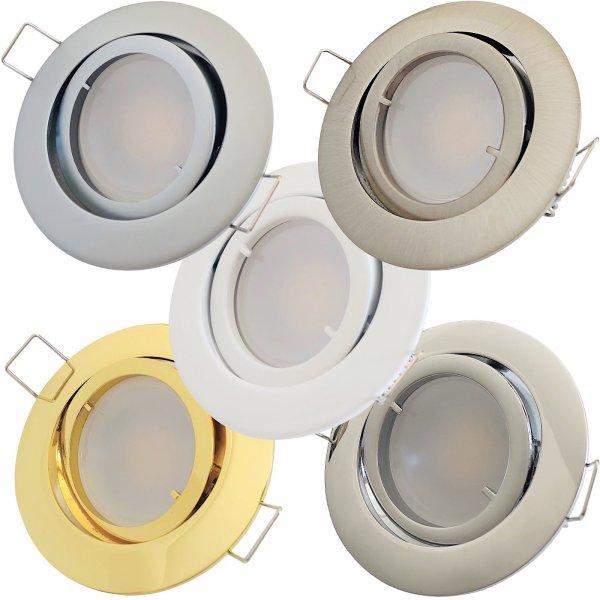 9 Watt LED Einbaustrahler Timo | 900 Lumen | Gu10 | 120° Abstrahlwinkel