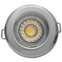 LED Einbaustrahler Tom / 230Volt / 7Watt / Dimmbar / Starr / Silber oder Weiss
